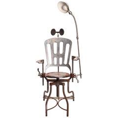 Dentist Armchair with Lamp, USA, 1920