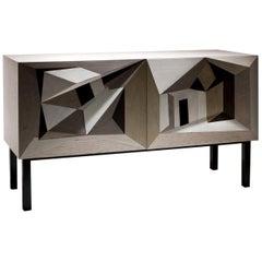 Dentro Al Paesaggio Intarsia Sideboard by Marcello Jori