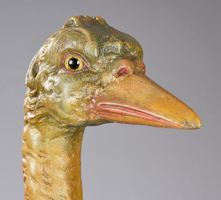 American Dentzel Carved Ostrich Carousel Animal For Sale