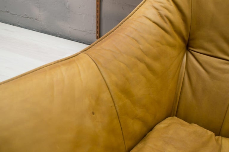 'Denver' 2-Seat Leather Sofa by Gerard Van Den Berg for Montis, 1970s For Sale 4