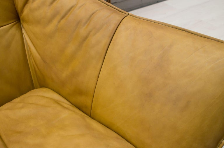 'Denver' 2-Seat Leather Sofa by Gerard Van Den Berg for Montis, 1970s For Sale 6