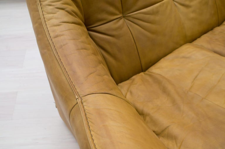 'Denver' 2-Seat Leather Sofa by Gerard Van Den Berg for Montis, 1970s For Sale 8