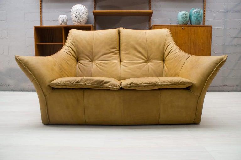 Dutch 'Denver' 2-Seat Leather Sofa by Gerard Van Den Berg for Montis, 1970s For Sale