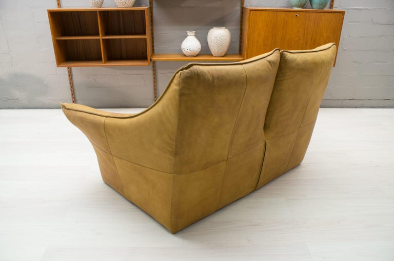'Denver' 2-Seat Leather Sofa by Gerard Van Den Berg for Montis, 1970s In Good Condition For Sale In Nürnberg, Bayern