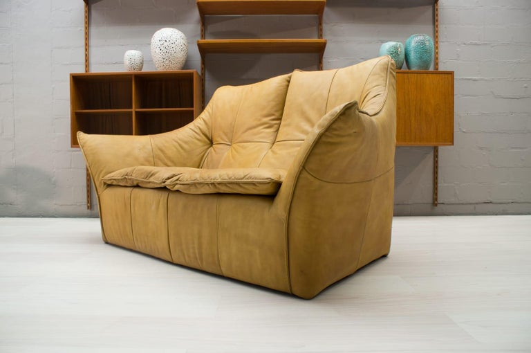 Late 20th Century 'Denver' 2-Seat Leather Sofa by Gerard Van Den Berg for Montis, 1970s For Sale