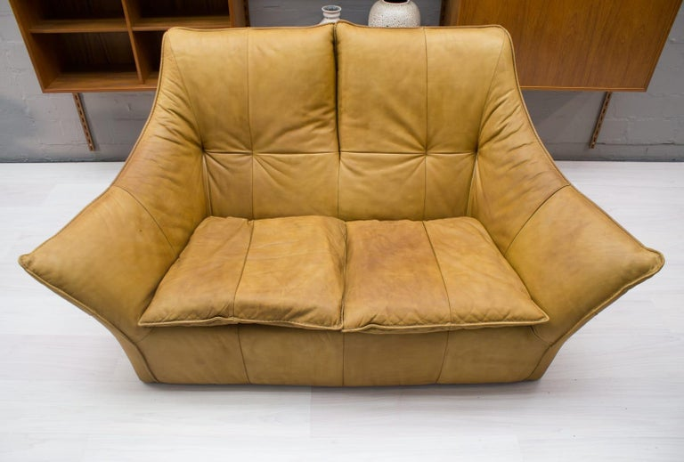 'Denver' 2-Seat Leather Sofa by Gerard Van Den Berg for Montis, 1970s For Sale 1