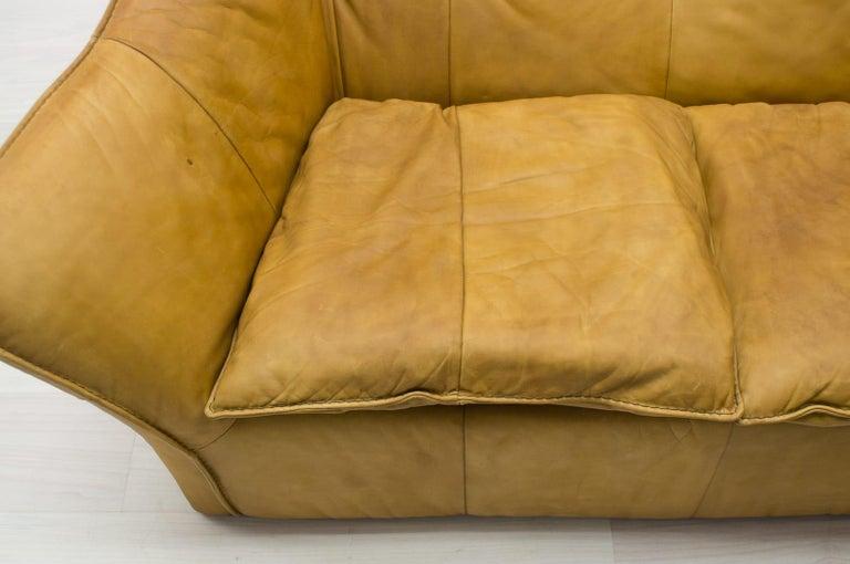 'Denver' 2-Seat Leather Sofa by Gerard Van Den Berg for Montis, 1970s For Sale 2