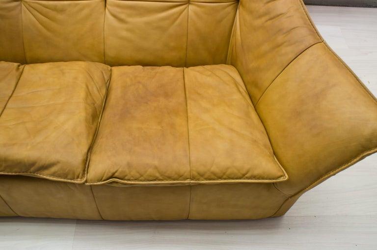 'Denver' 2-Seat Leather Sofa by Gerard Van Den Berg for Montis, 1970s For Sale 3