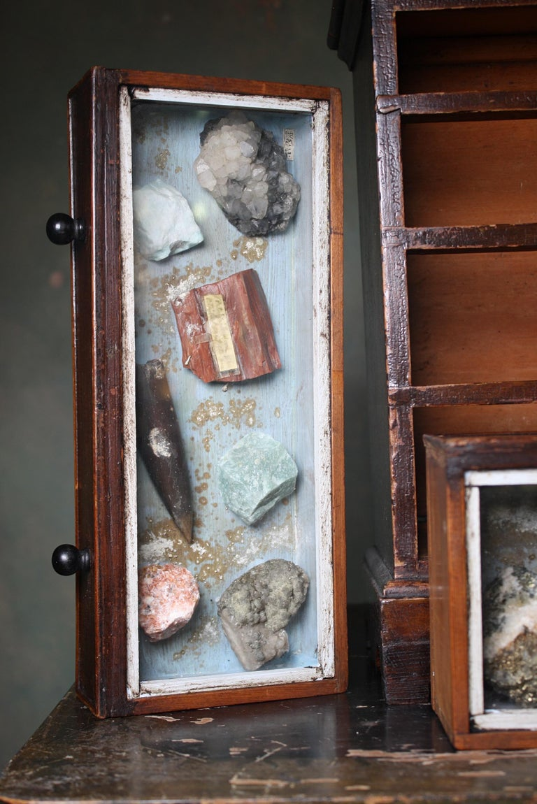 Denver Colorado D C Woodend, 1885 Table Top Geology Mineral Specimen Chest For Sale 4