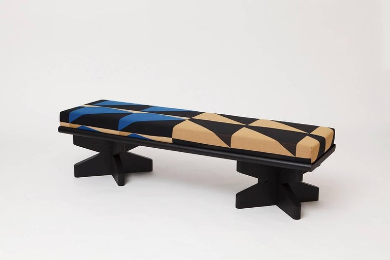 Depaysement is a collection of pieces created by Vonnegut/Kraft in collaboration with Slow and Steady Wins the Race using a new digital platform, Weft, to create the textiles. The Depaysement Ottoman, Benches and Screen developed out of a