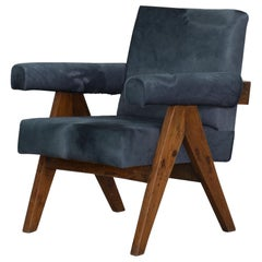 Deposit 2: Pierre Jeanneret PJ-SI-32-A Authentic, Rare Upholstered Easy Chair