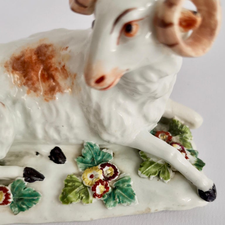Derby Porcelain Figure of Recumbent Ram, 1759-1769 For Sale 4