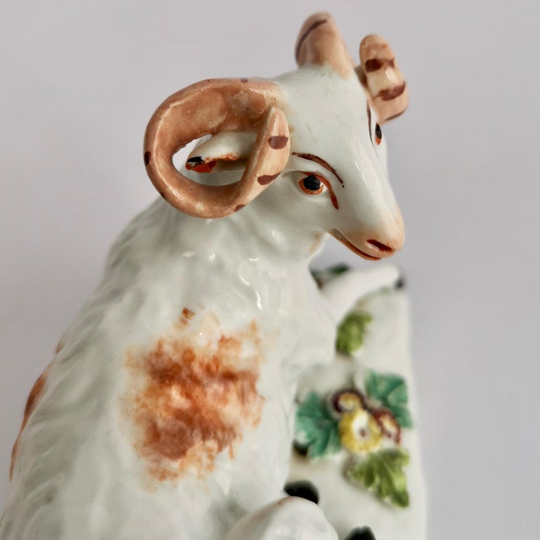 Derby Porcelain Figure of Recumbent Ram, 1759-1769 For Sale 1