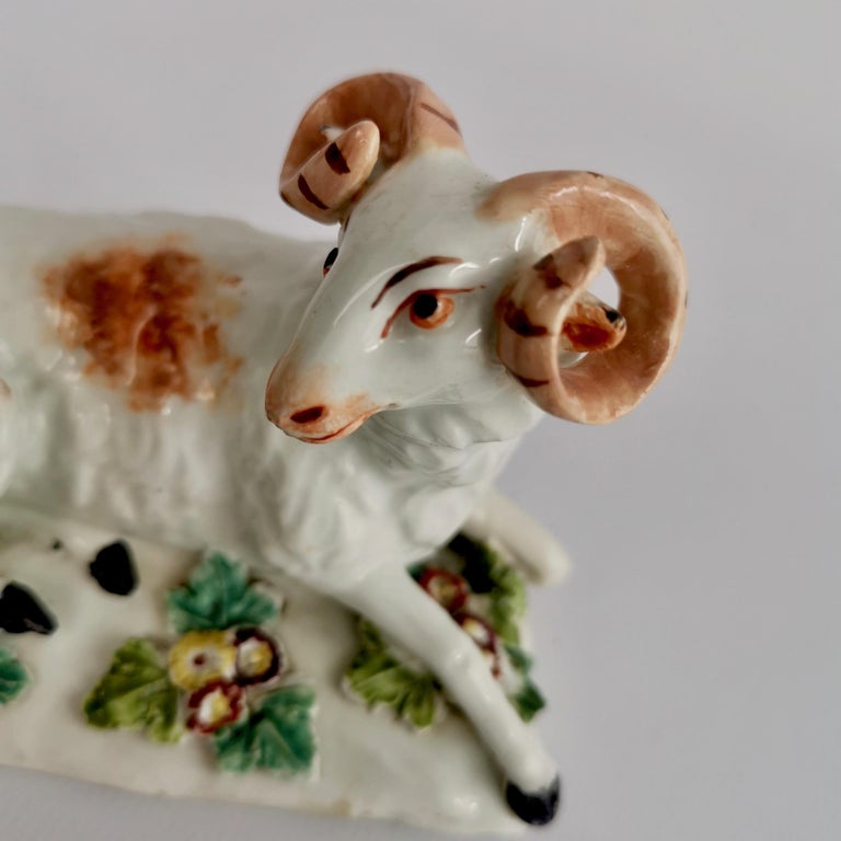 Derby Porcelain Figure of Recumbent Ram, 1759-1769 For Sale 2