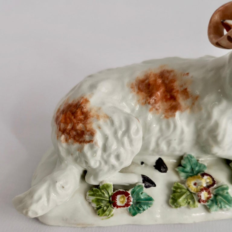 Derby Porcelain Figure of Recumbent Ram, 1759-1769 For Sale 3