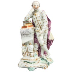 Derby Porcelain Figure of Shakespeare, circa 1765