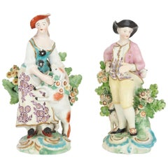 Derby Porcelain Figures of a Shepherd and a Shepherdess