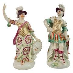 Derby Porcelain Figures of Mars and Minerva, Rococo, circa 1765