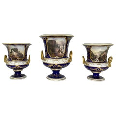 Derby Porcelain Garniture, Bloor Period, circa 1830