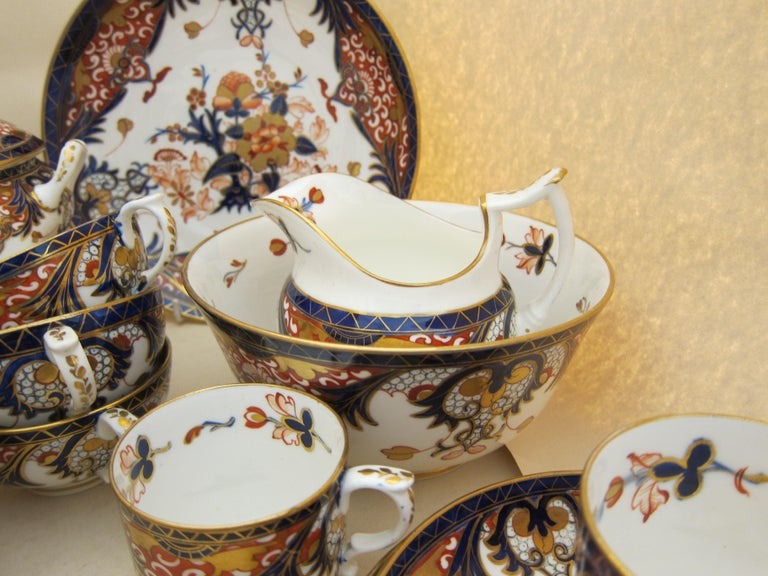 Derby Porcelain King S Pattern Tea Service With Coffee