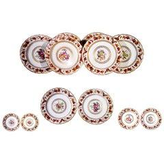Derby Porcelain Plates, Pattern 126, Painted by William Longden, Set of Six