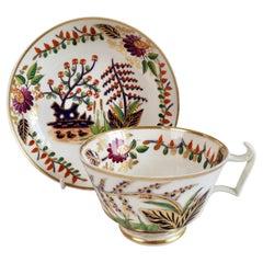Derby Porcelain Teacup, Japan Pattern with Ducks, Regency, 1815-1820