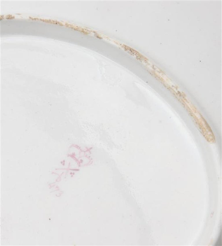 18th Century Derby Porcelain Yellow-Ground Botanical Dish, Pattern #473, circa 1785 For Sale