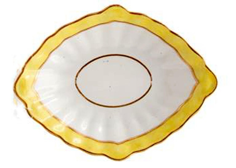Derby Porcelain Yellow-Ground Botanical Dish, Pattern #473, circa 1785 For Sale 1