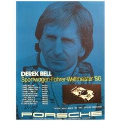 Derek Bell Porsche Original Vintage Poster