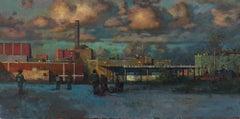 Evening Sky Over Factory