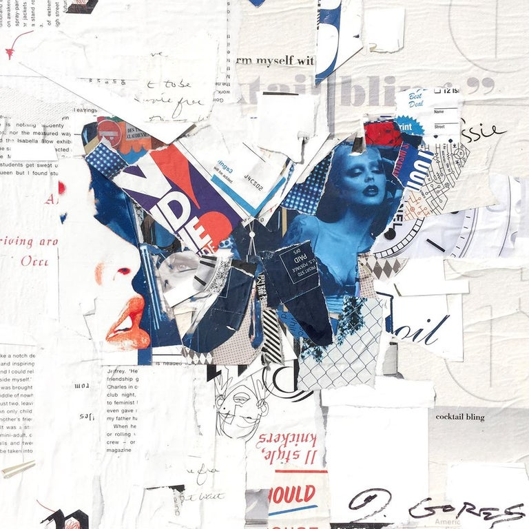 Born in New York 1971  BFA Rhode Island School of Design 1993  Derek Gores tempts the senses in his collage works, recycling magazines, maps, data and other paper materials in his lush figurative works. Considered part of the Pop Surrealism or New