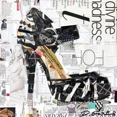 """The One, The Only"" Collage of  high heel shoe with black and white"