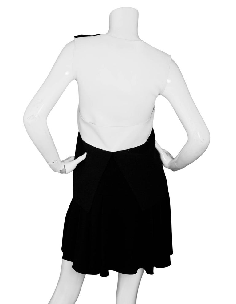 Derek Lam 10 Crosby Black White Peplum Dress Sz 0 In Excellent Condition For