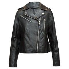 Derek Lam 10 Crosby Black Leather Moto Jacket