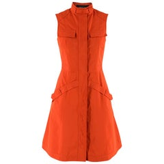 Derek Lam Brick Orange Sleeveless Utility Dress SIZE 6