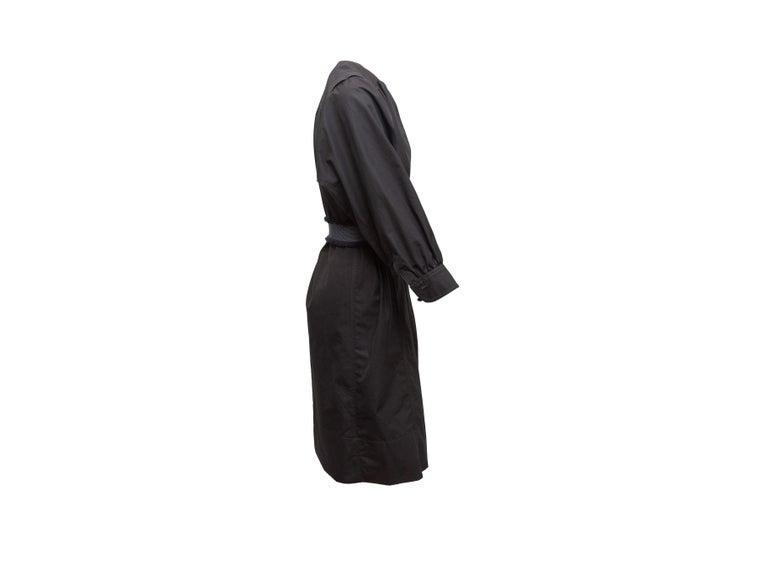 Black Derek Lam Navy Long Sleeve Cotton Dress