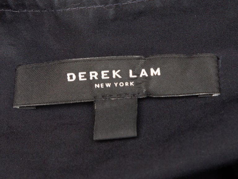 Derek Lam Navy Long Sleeve Cotton Dress In Good Condition In New York, NY
