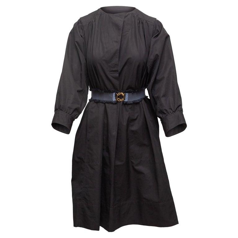 Derek Lam Navy Long Sleeve Cotton Dress