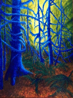 ' In Lynn Valley Gorge ', Painting, Acrylic on Canvas