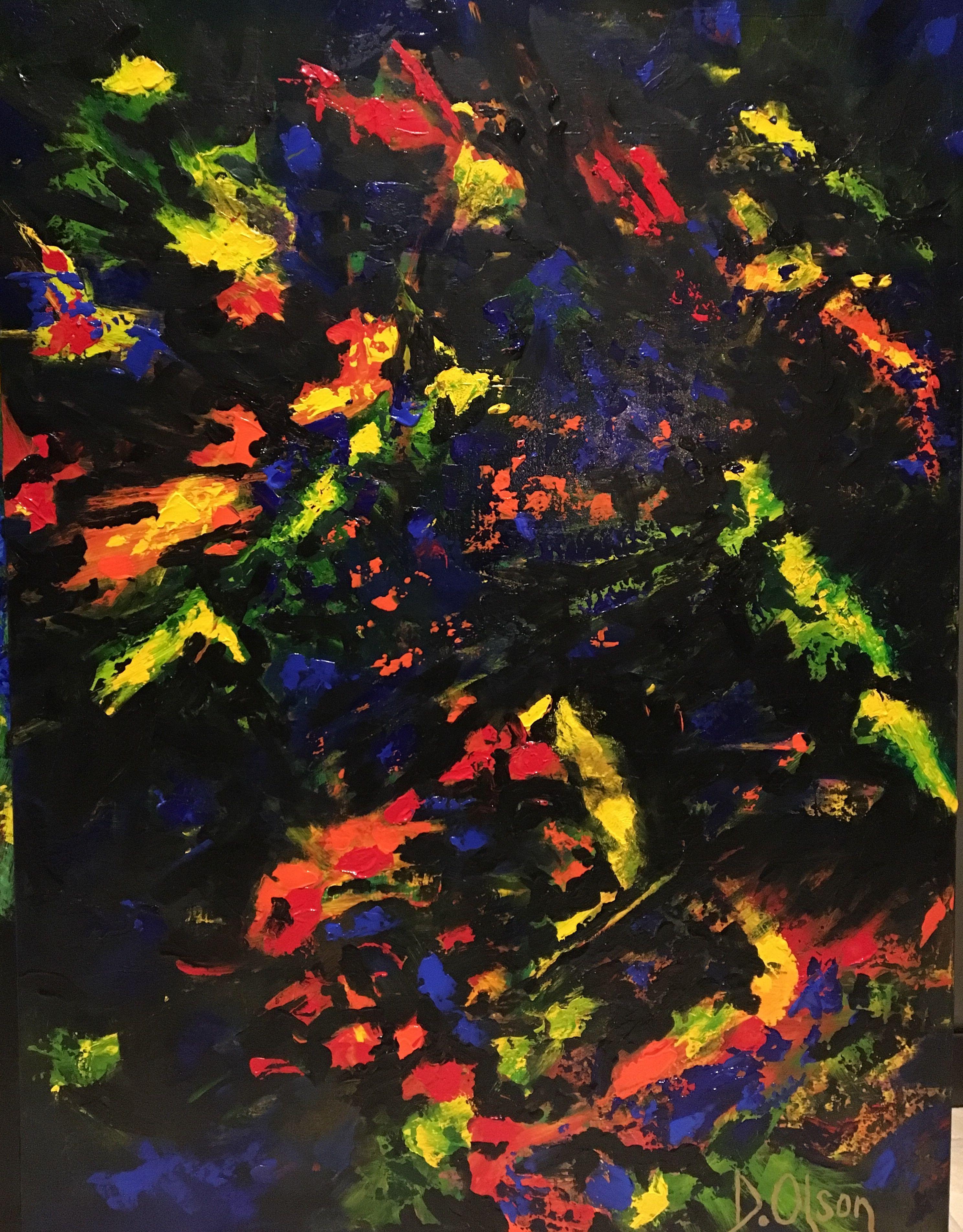 ' The Opalogy ', Painting, Acrylic on Canvas