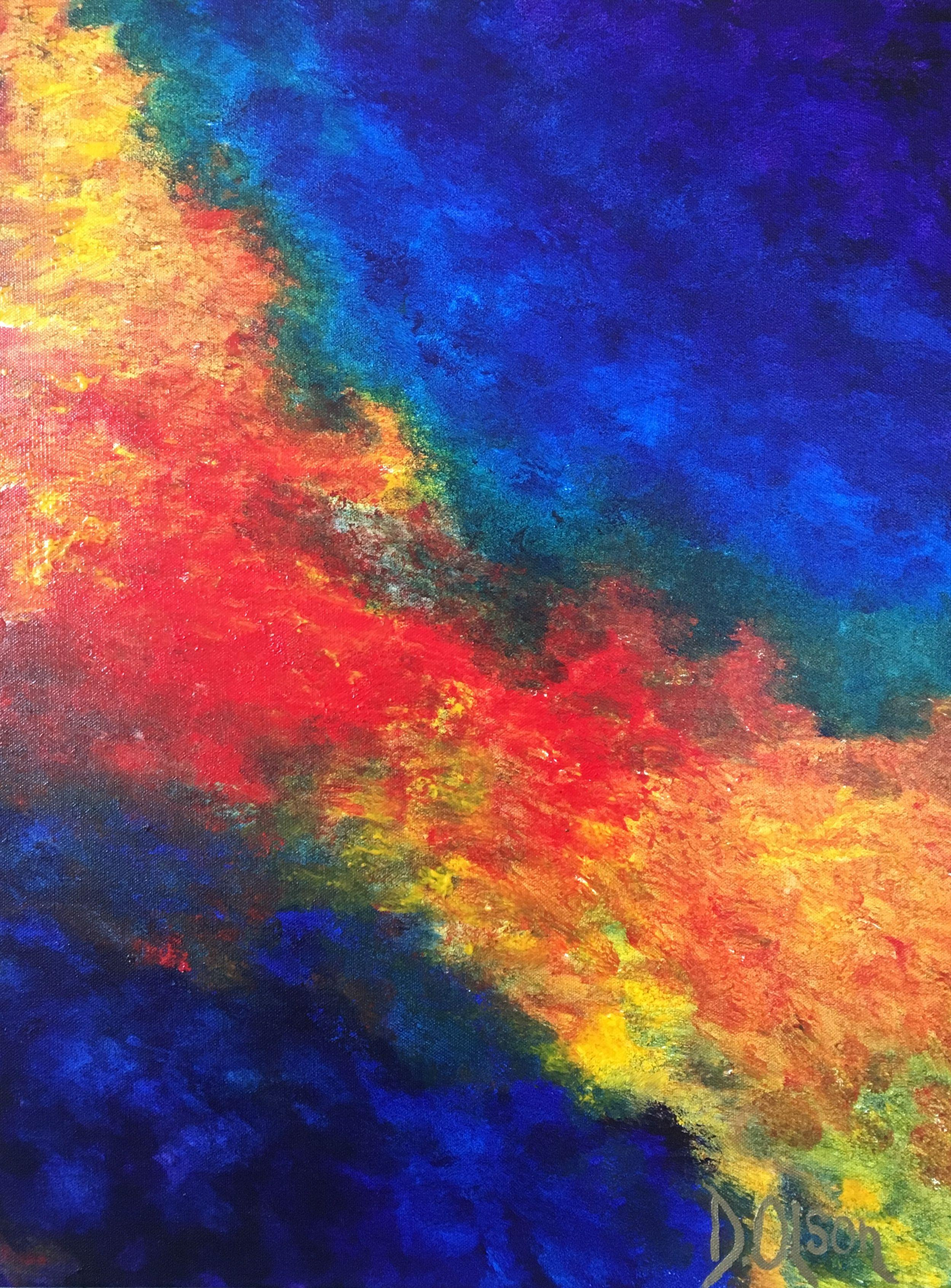 4 Colours, Painting, Acrylic on Canvas