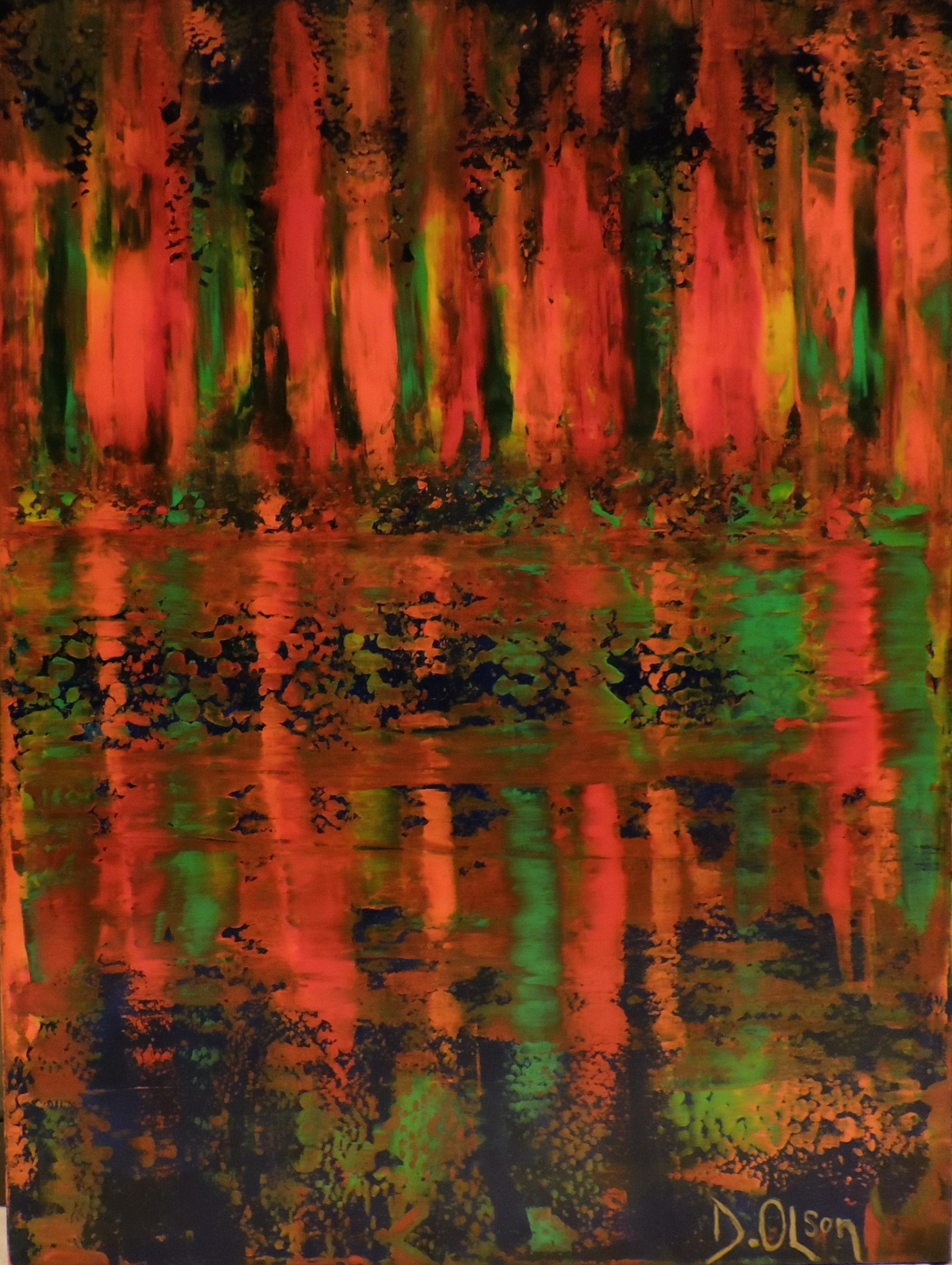Fire By Water, Painting, Acrylic on Canvas