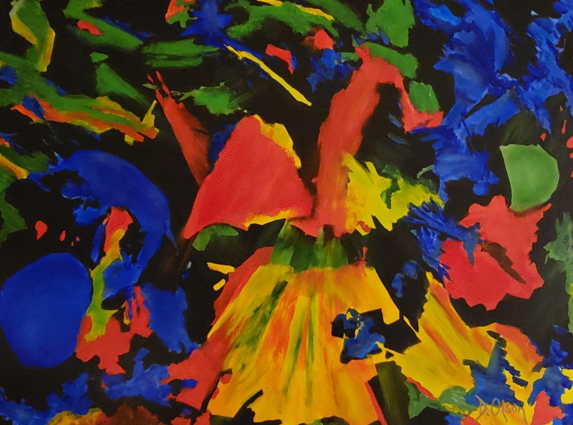 Mach Four, Painting, Acrylic on Canvas