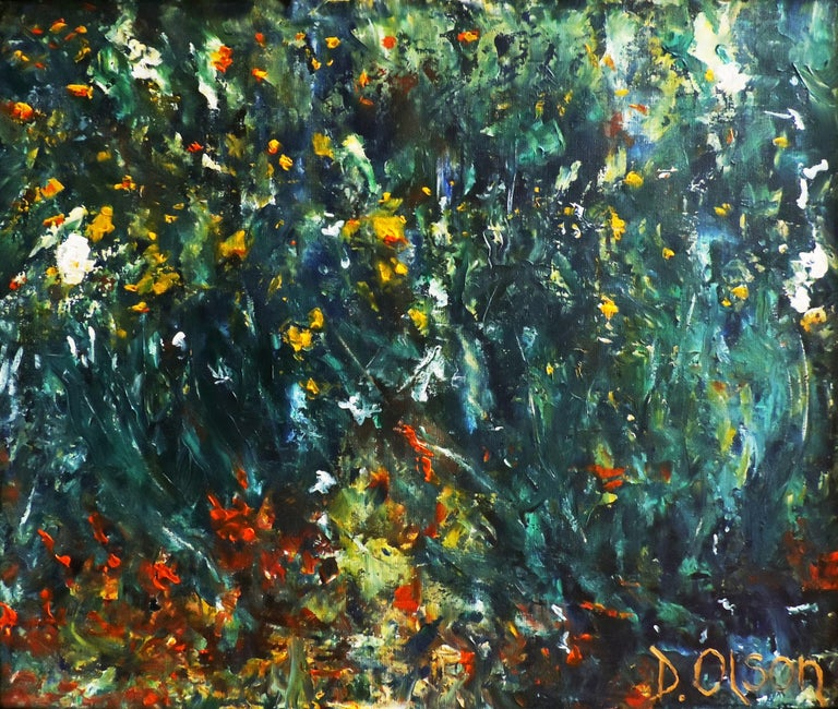 Derek Olson Abstract Painting - The Garden, Painting, Acrylic on Canvas
