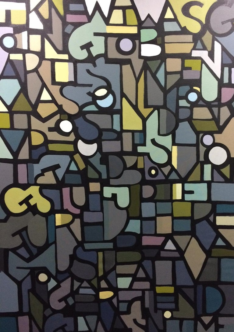Derrick Hickman Abstract Painting - Not Me