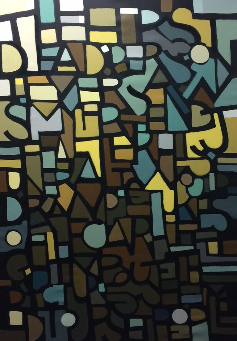 Derrick Hickman Abstract Painting - The Complicated Idea of Gone
