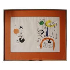 """Derriere le Miroir"" Lithograph by Joan Miro"