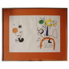 """Derriere le Miroir"" Lithograph by Joan Miro"