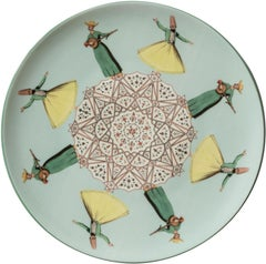 Dervishes Porcelain Dinner Plate by Vito Nesta for Les-Ottomans