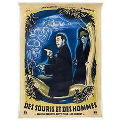"Des Souris Et Des Hommes ""Of Mice & Men"" Steinbeck, French Movie Poster"